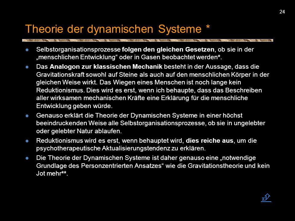 Theorie der dynamischen Systeme *