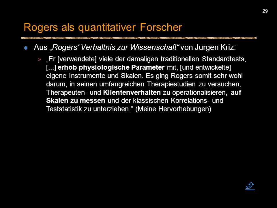 Rogers als quantitativer Forscher