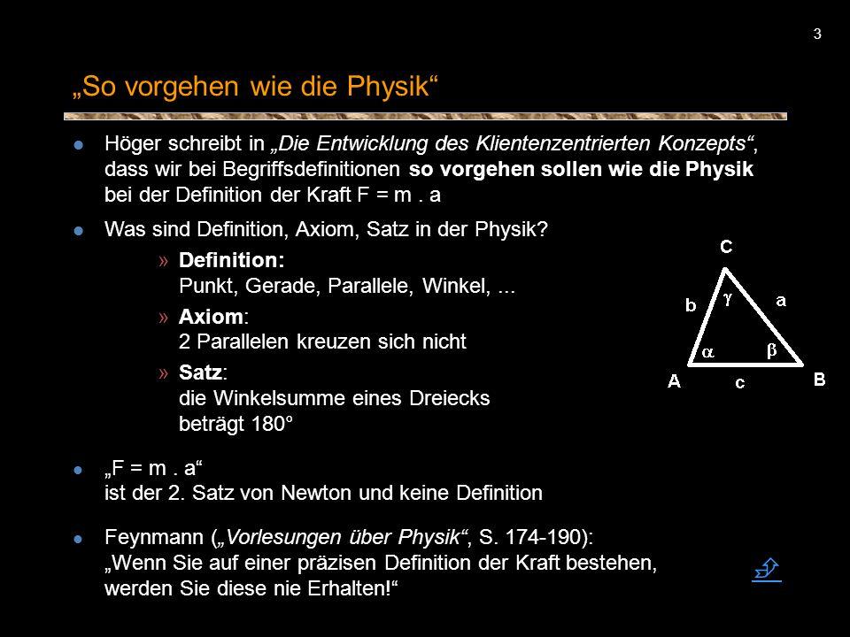 """""""So vorgehen wie die Physik"""