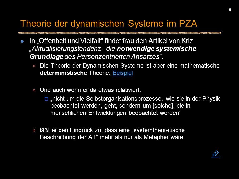 Theorie der dynamischen Systeme im PZA