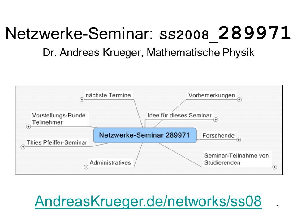 Netzwerke-Seminar: SS2008_289971 Dr