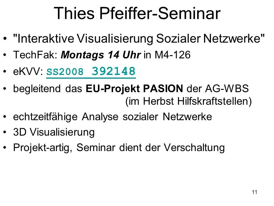 Thies Pfeiffer-Seminar