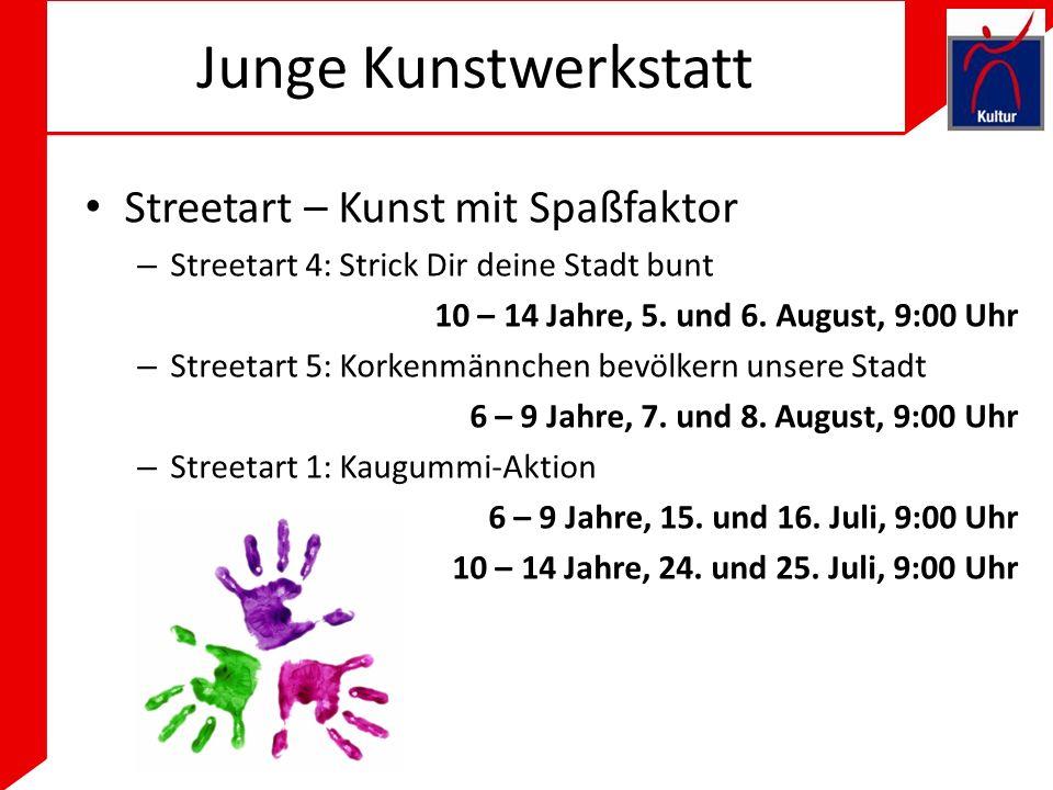 Junge Kunstwerkstatt Streetart – Kunst mit Spaßfaktor