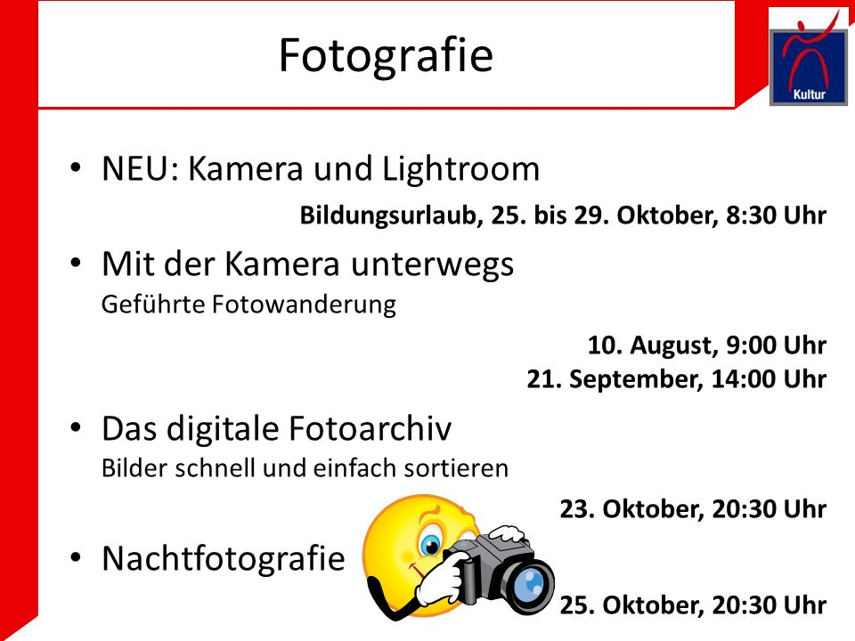 Fotografie NEU: Kamera und Lightroom