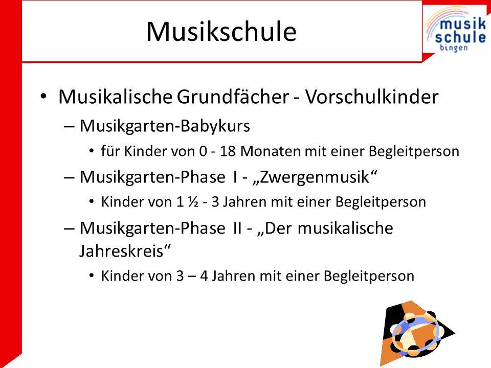 Musikschule Musikalische Grundfächer - Vorschulkinder
