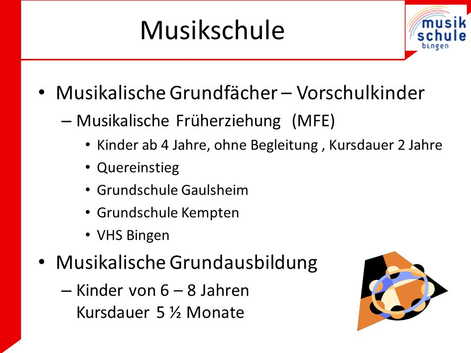Musikschule Musikalische Grundfächer – Vorschulkinder