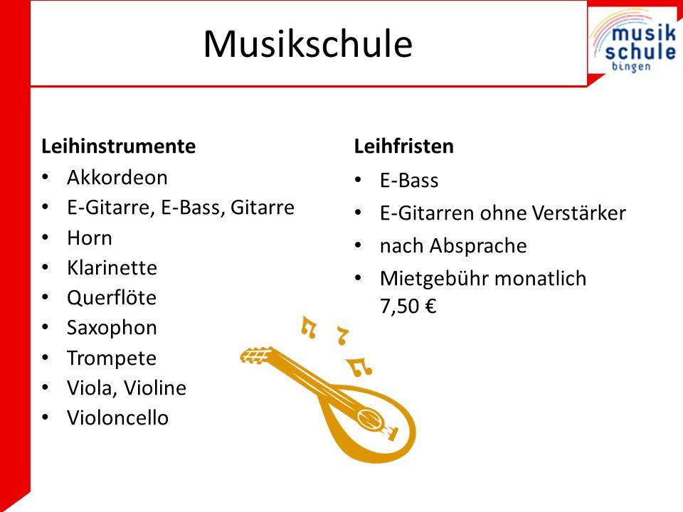 Musikschule Leihinstrumente Leihfristen Akkordeon