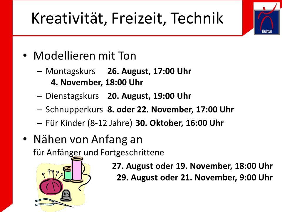 Kreativität, Freizeit, Technik