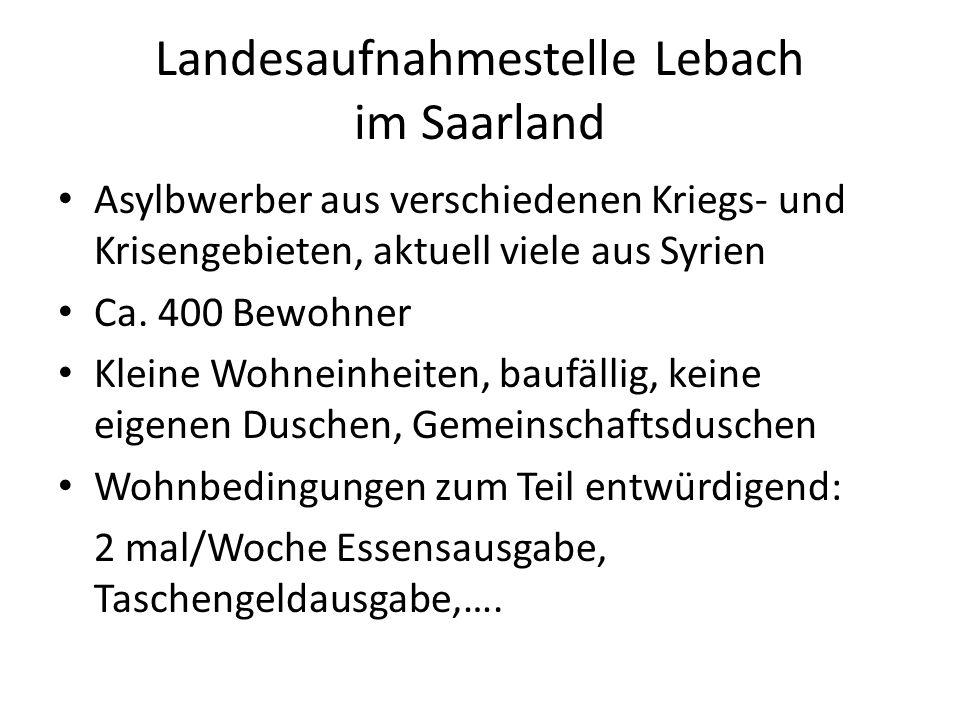 Landesaufnahmestelle Lebach im Saarland