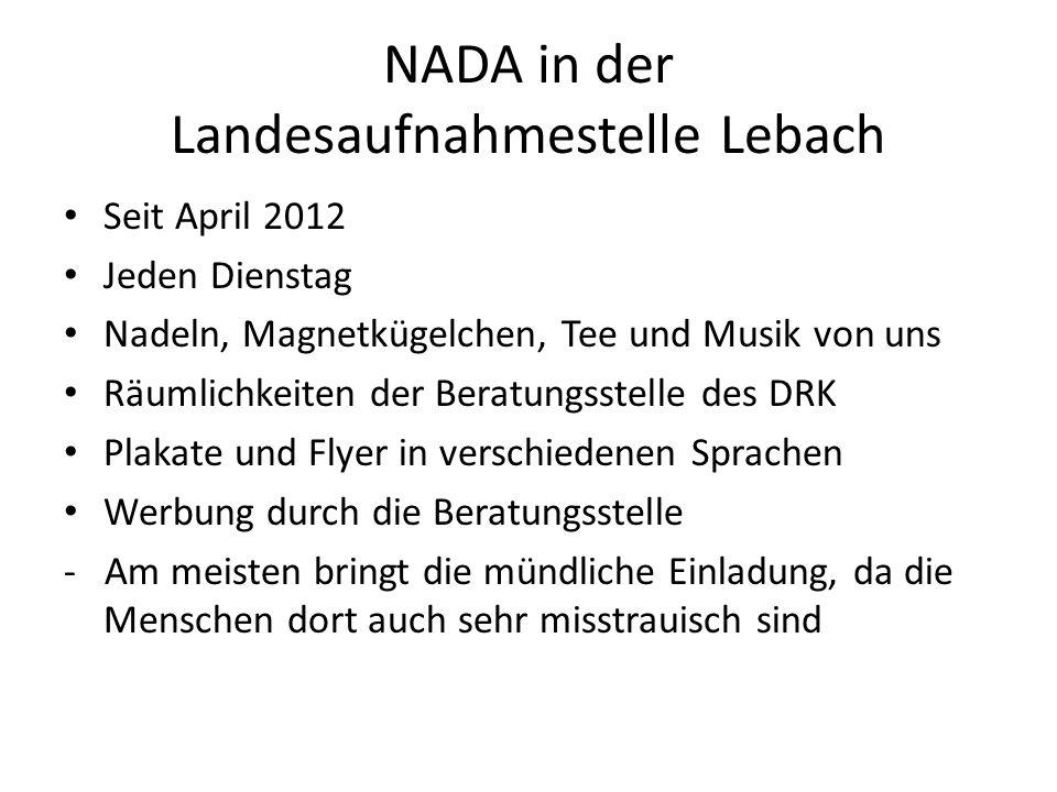NADA in der Landesaufnahmestelle Lebach