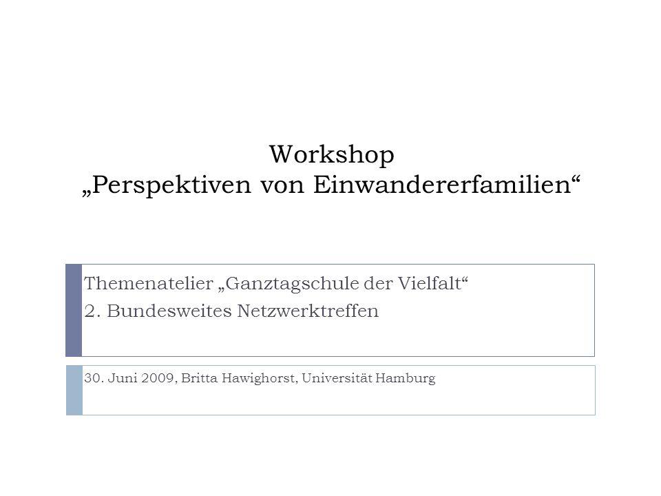"""Workshop """"Perspektiven von Einwandererfamilien"""
