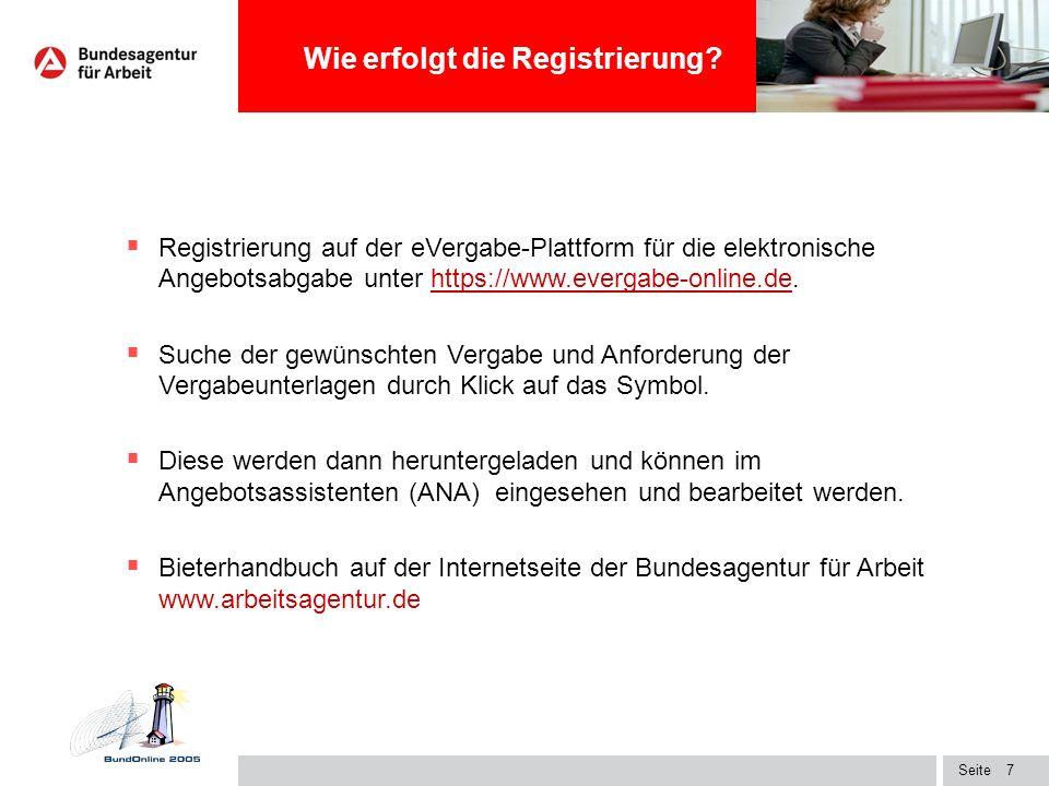 Wie erfolgt die Registrierung
