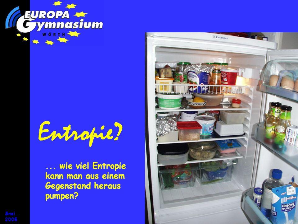 Entropie ... wie viel Entropie kann man aus einem Gegenstand heraus pumpen ... wie viel Entropie kann man aus einem Gegenstand heraus pumpen