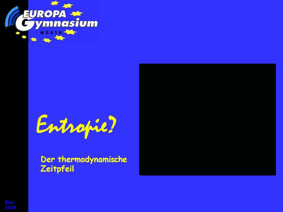 Entropie Der thermodynamische Zeitpfeil