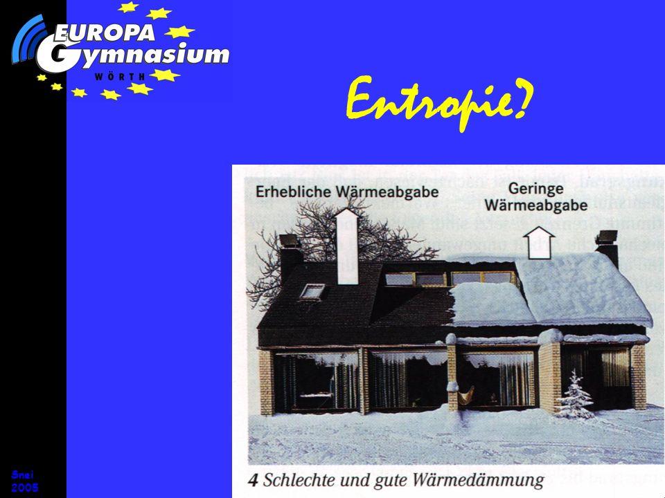 Entropie Entropiestromstärke Snei 2005