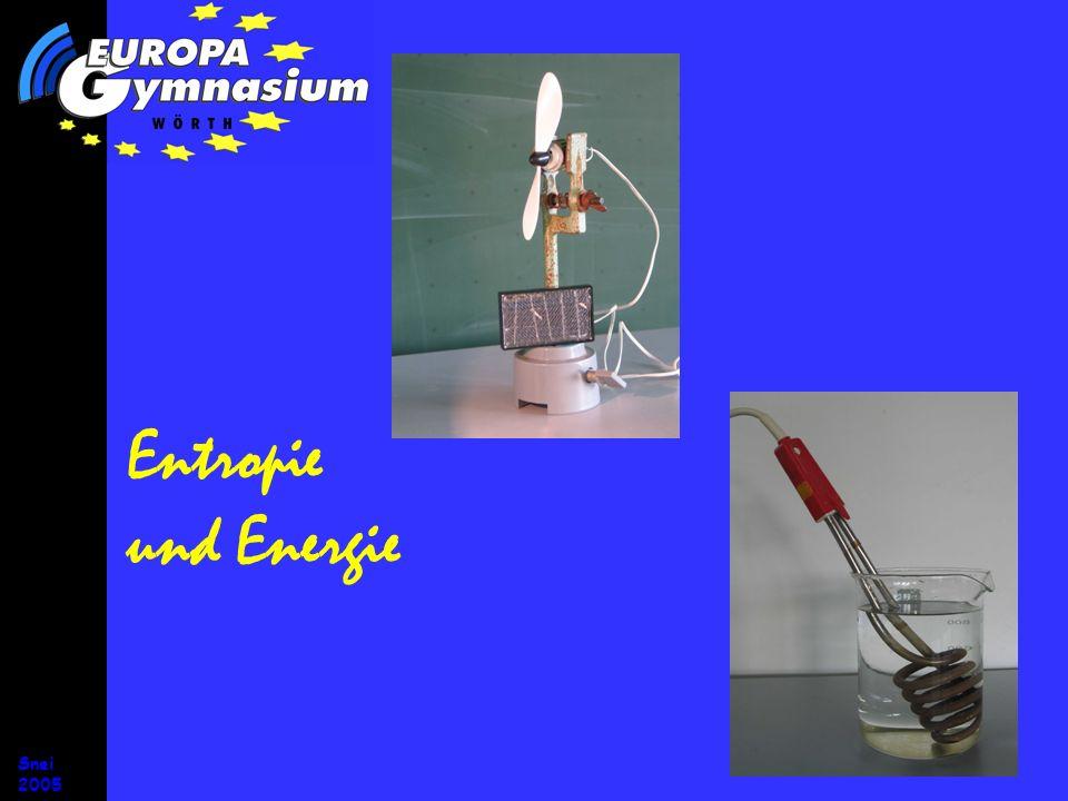 Entropie und Energie Entropiestromstärke Snei 2005