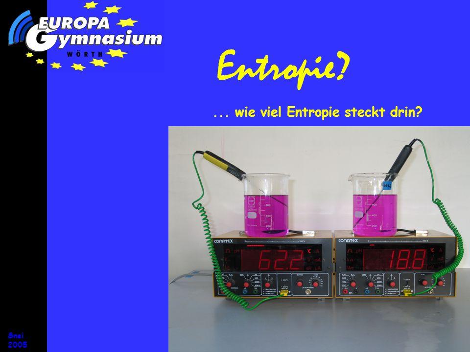 Entropie ... wie viel Entropie steckt drin