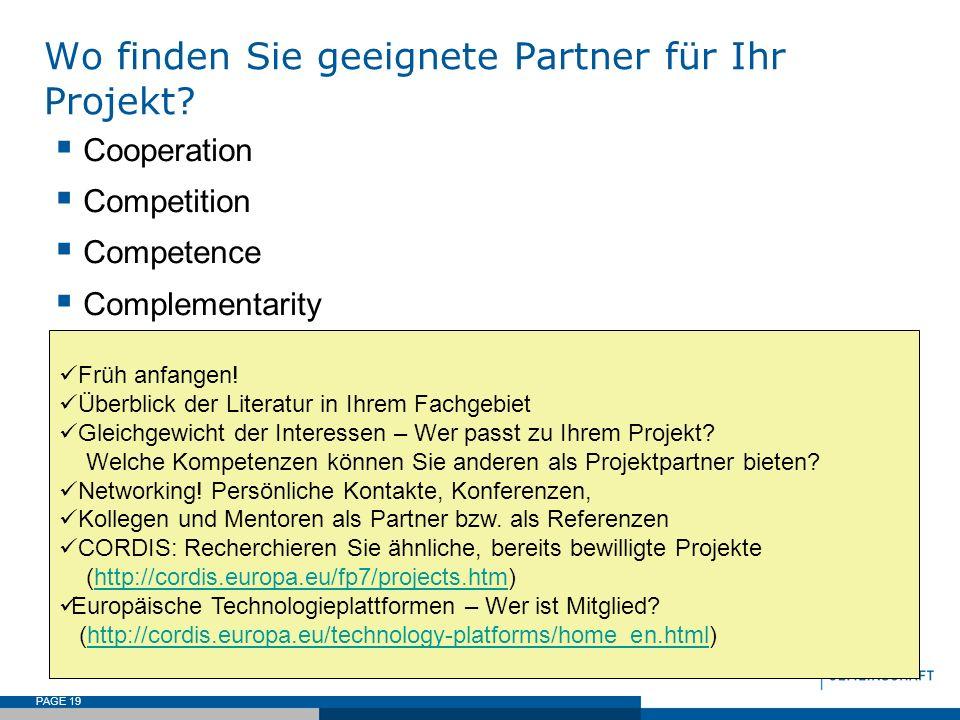 Wo finden Sie geeignete Partner für Ihr Projekt
