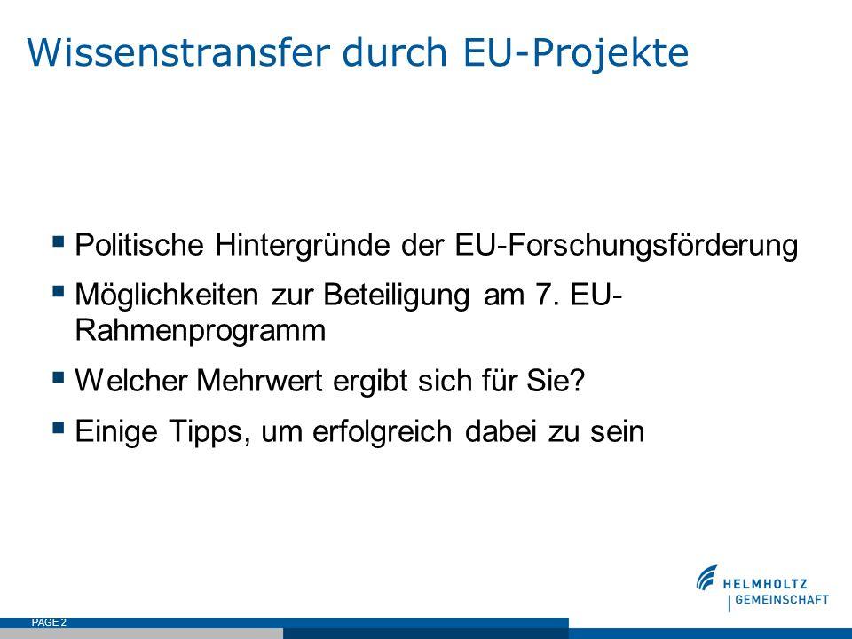 Wissenstransfer durch EU-Projekte