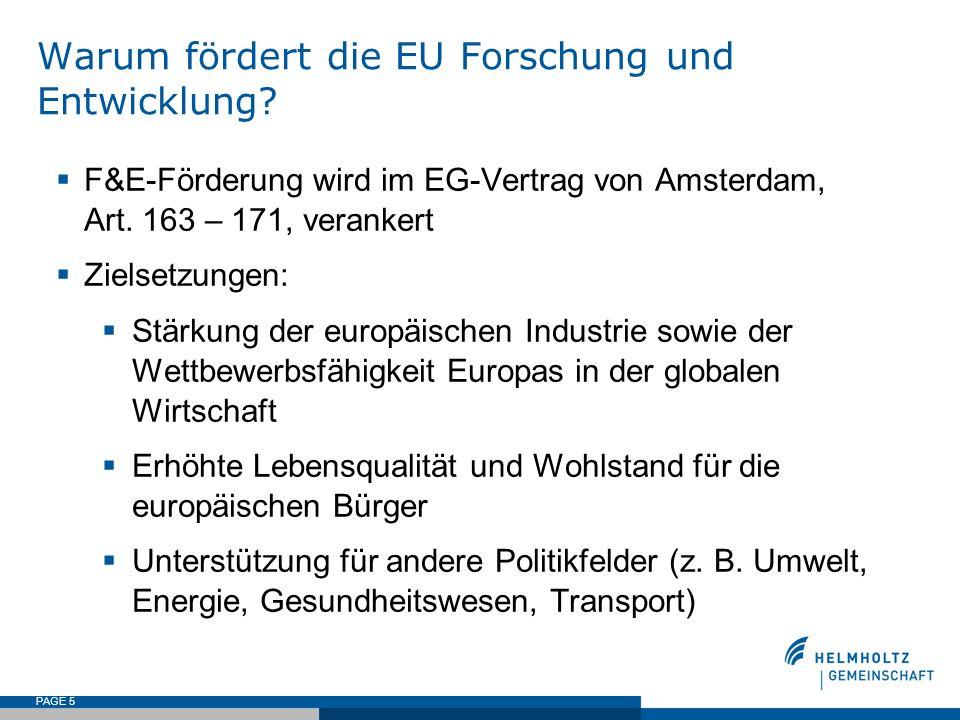 Warum fördert die EU Forschung und Entwicklung