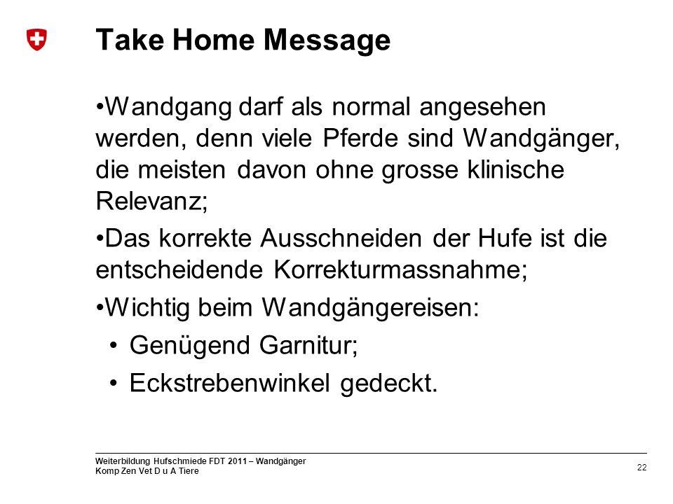 Take Home Message Wandgang darf als normal angesehen werden, denn viele Pferde sind Wandgänger, die meisten davon ohne grosse klinische Relevanz;