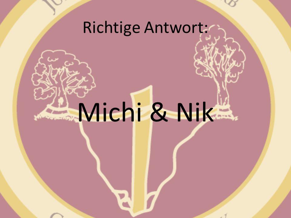 Richtige Antwort: Michi & Nik