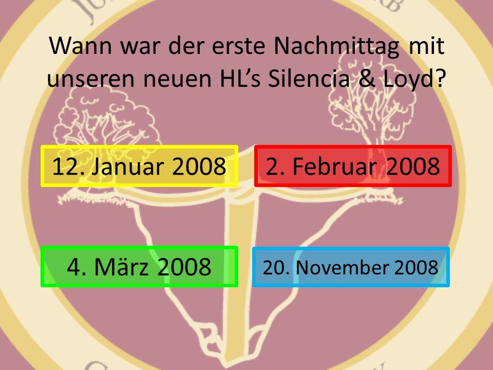 Wann war der erste Nachmittag mit unseren neuen HL's Silencia & Loyd