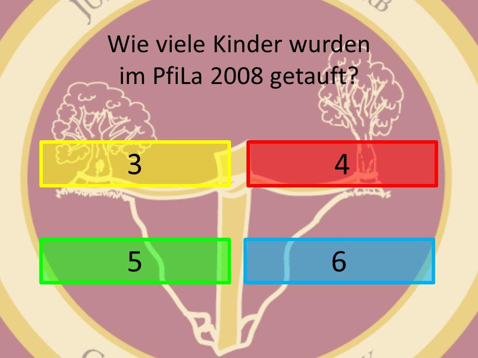 Wie viele Kinder wurden im PfiLa 2008 getauft