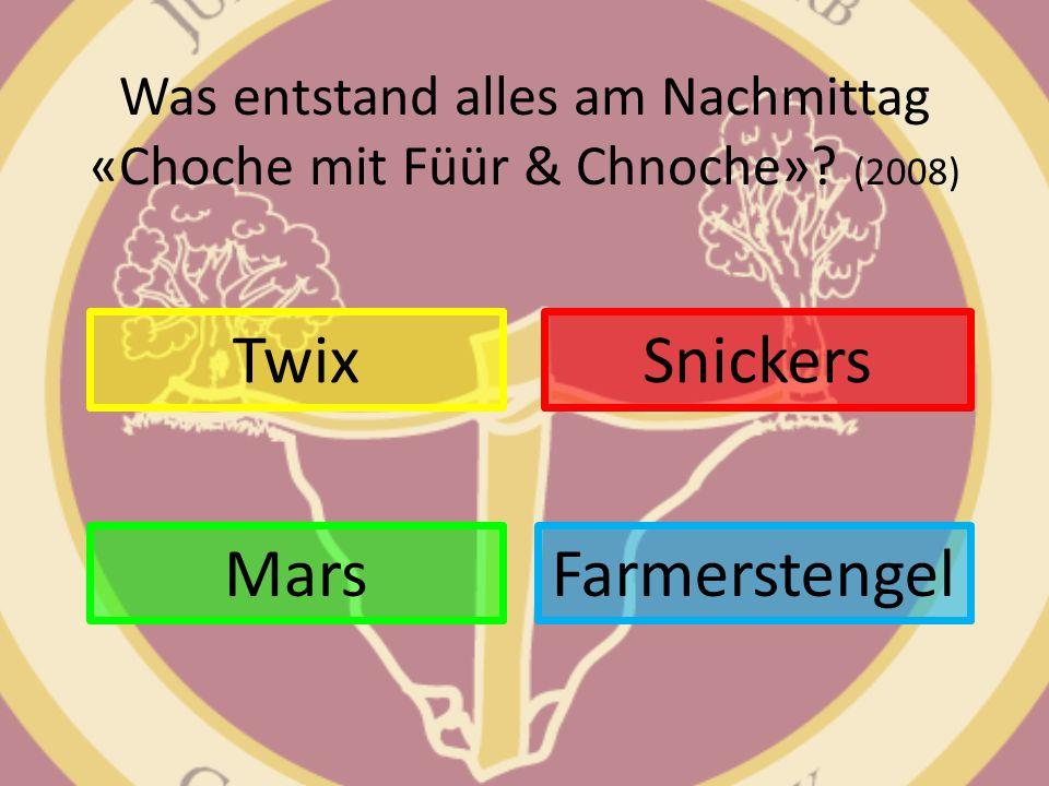 Was entstand alles am Nachmittag «Choche mit Füür & Chnoche» (2008)