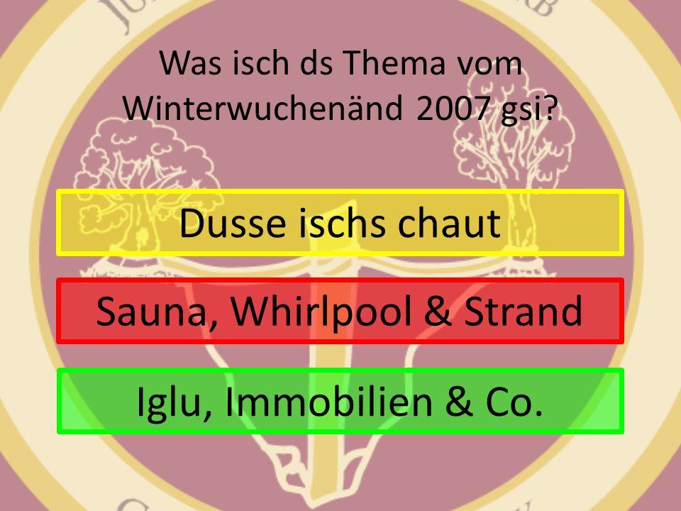 Was isch ds Thema vom Winterwuchenänd 2007 gsi