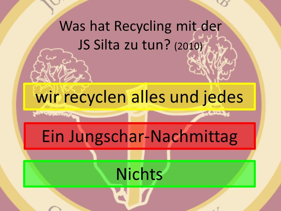 Was hat Recycling mit der JS Silta zu tun (2010)