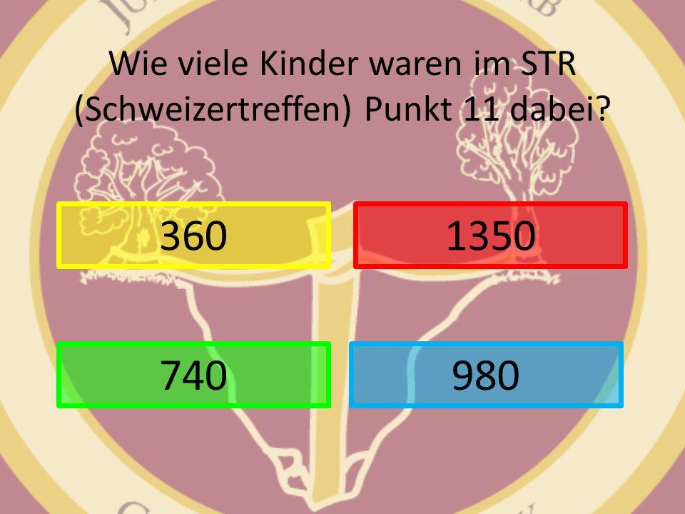 Wie viele Kinder waren im STR (Schweizertreffen) Punkt 11 dabei