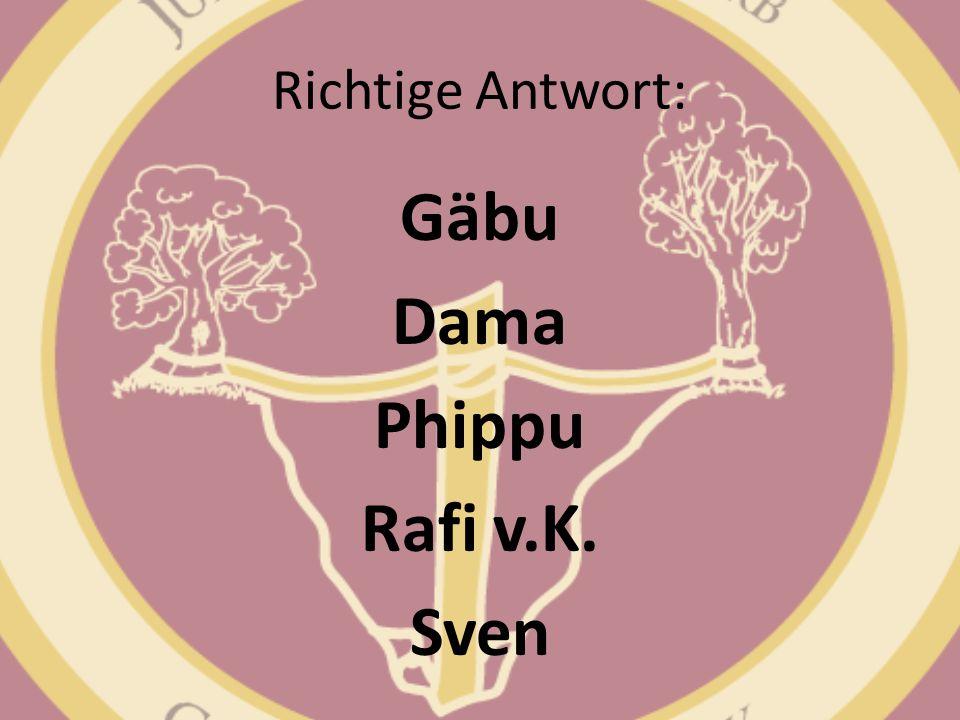 Gäbu Dama Phippu Rafi v.K. Sven