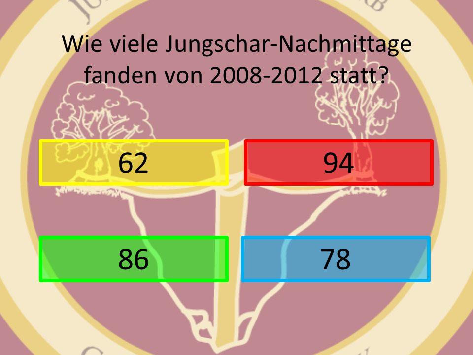 Wie viele Jungschar-Nachmittage fanden von 2008-2012 statt