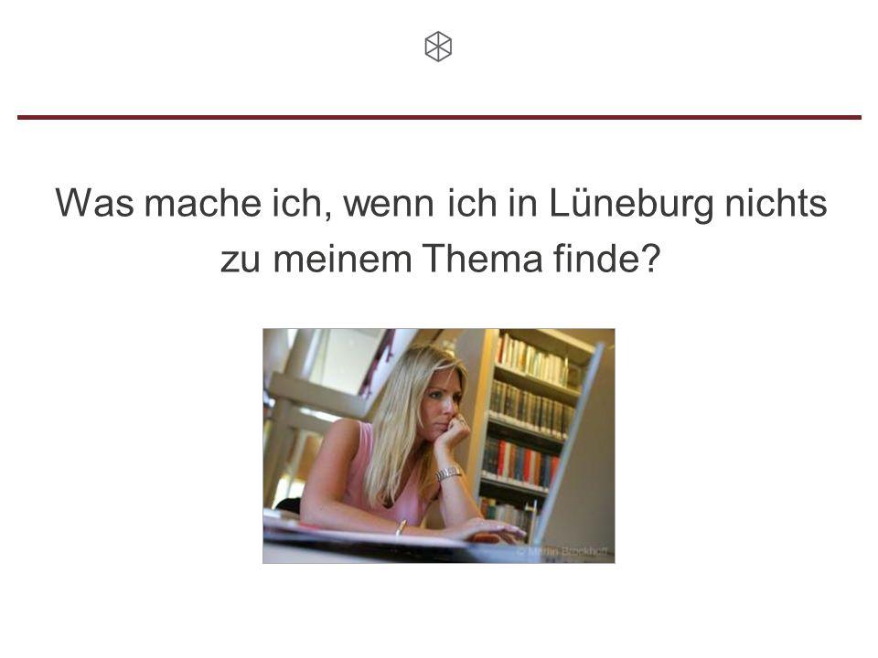 Was mache ich, wenn ich in Lüneburg nichts