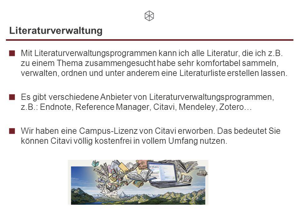 Literaturverwaltung
