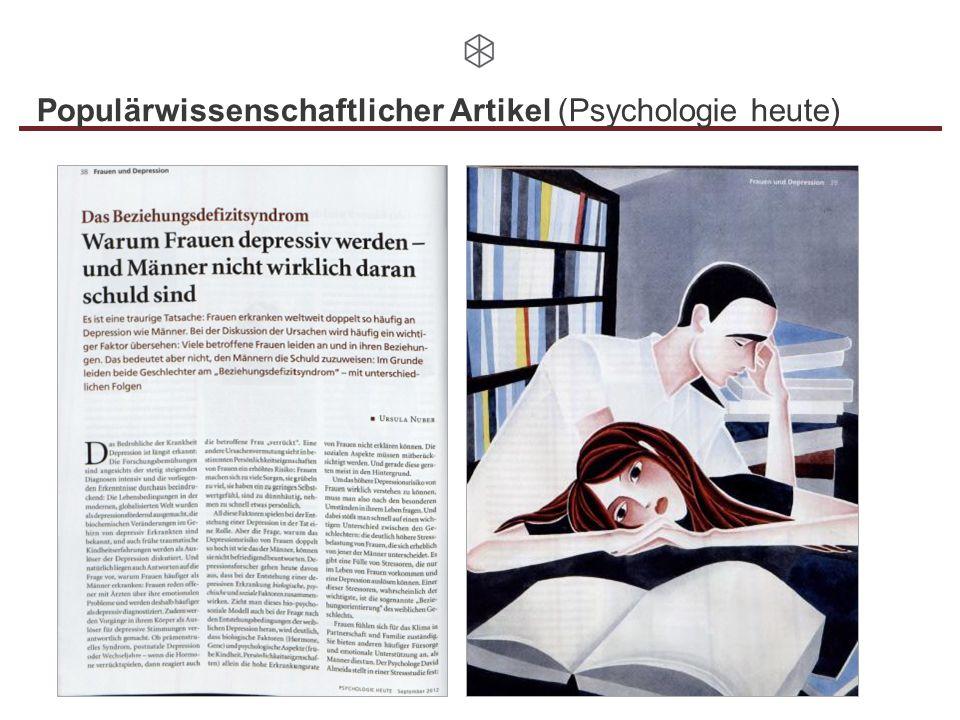 Populärwissenschaftlicher Artikel (Psychologie heute)