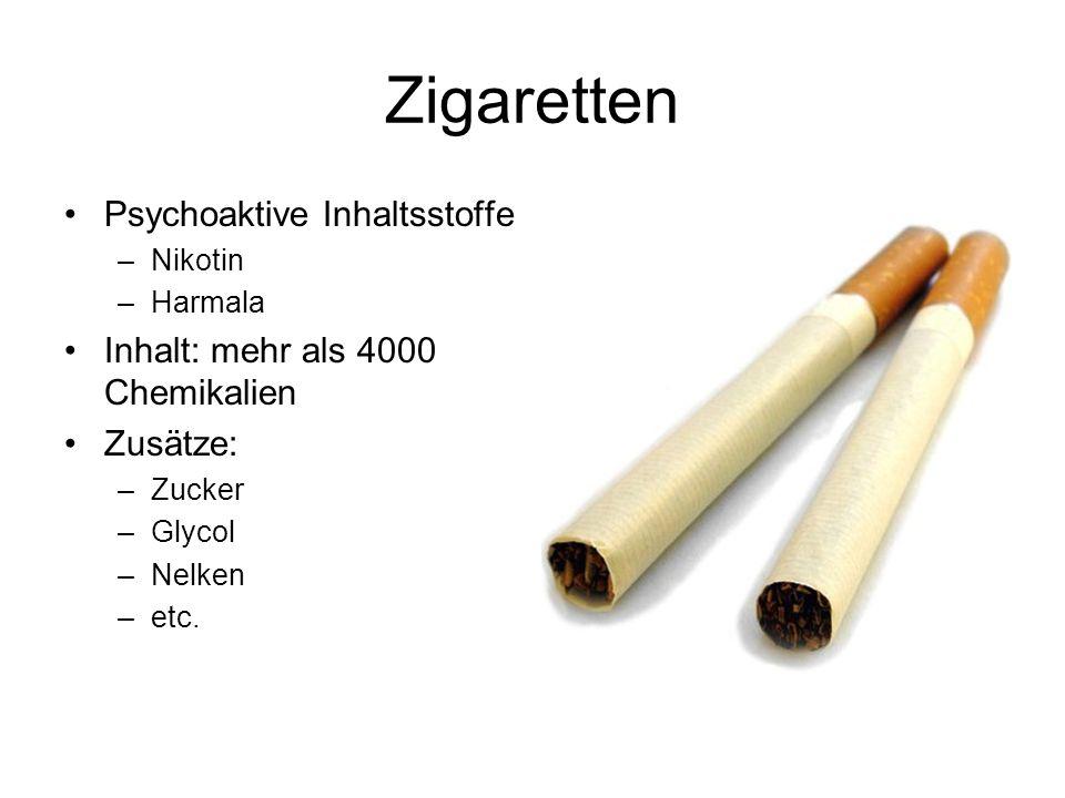 Zigaretten Psychoaktive Inhaltsstoffe