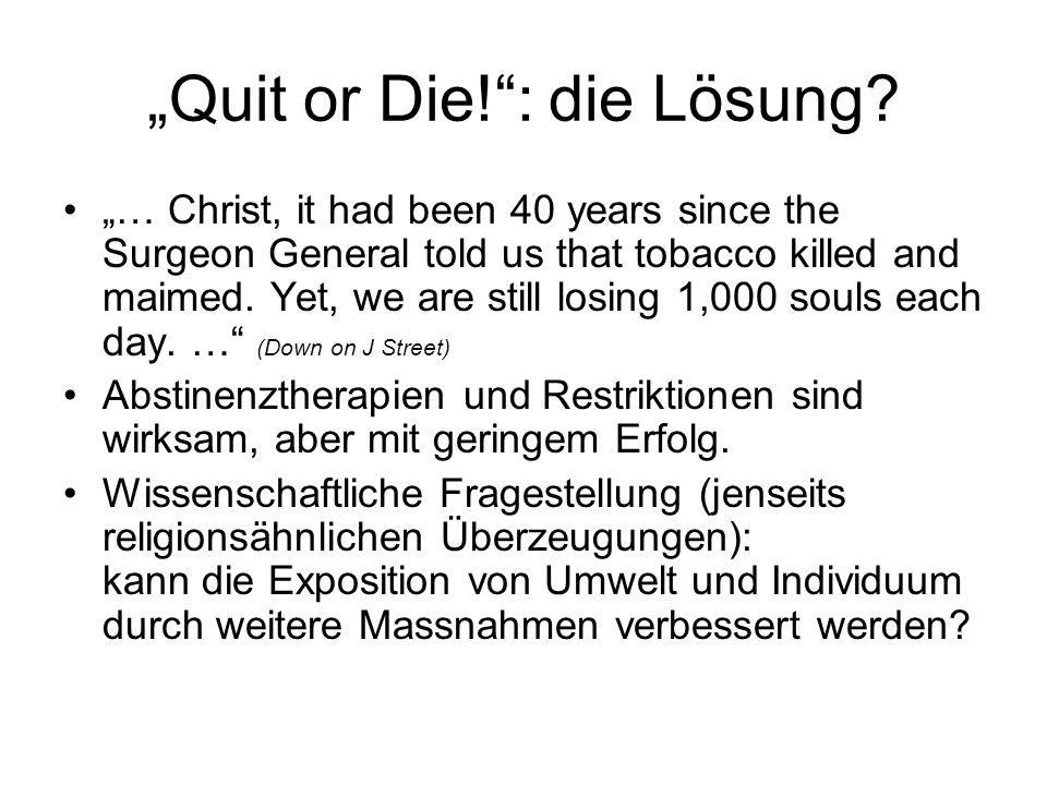 """""""Quit or Die! : die Lösung"""