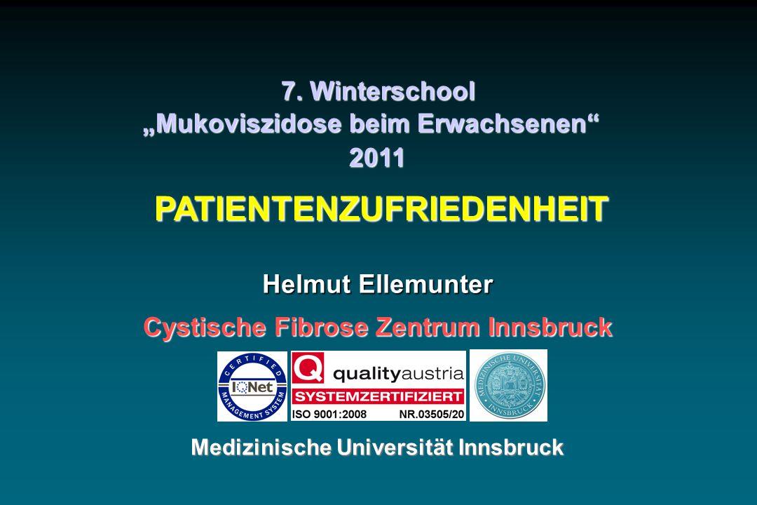 Cystische Fibrose Zentrum Innsbruck Medizinische Universität Innsbruck