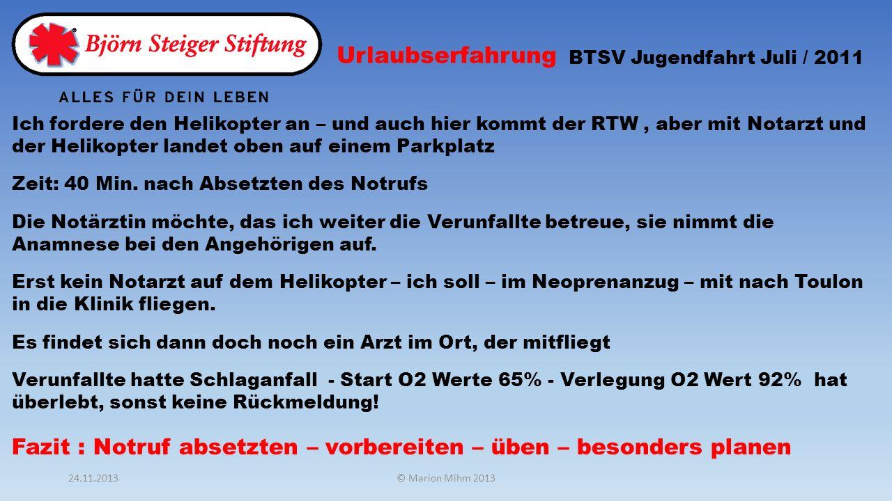 Urlaubserfahrung BTSV Jugendfahrt Juli / 2011.