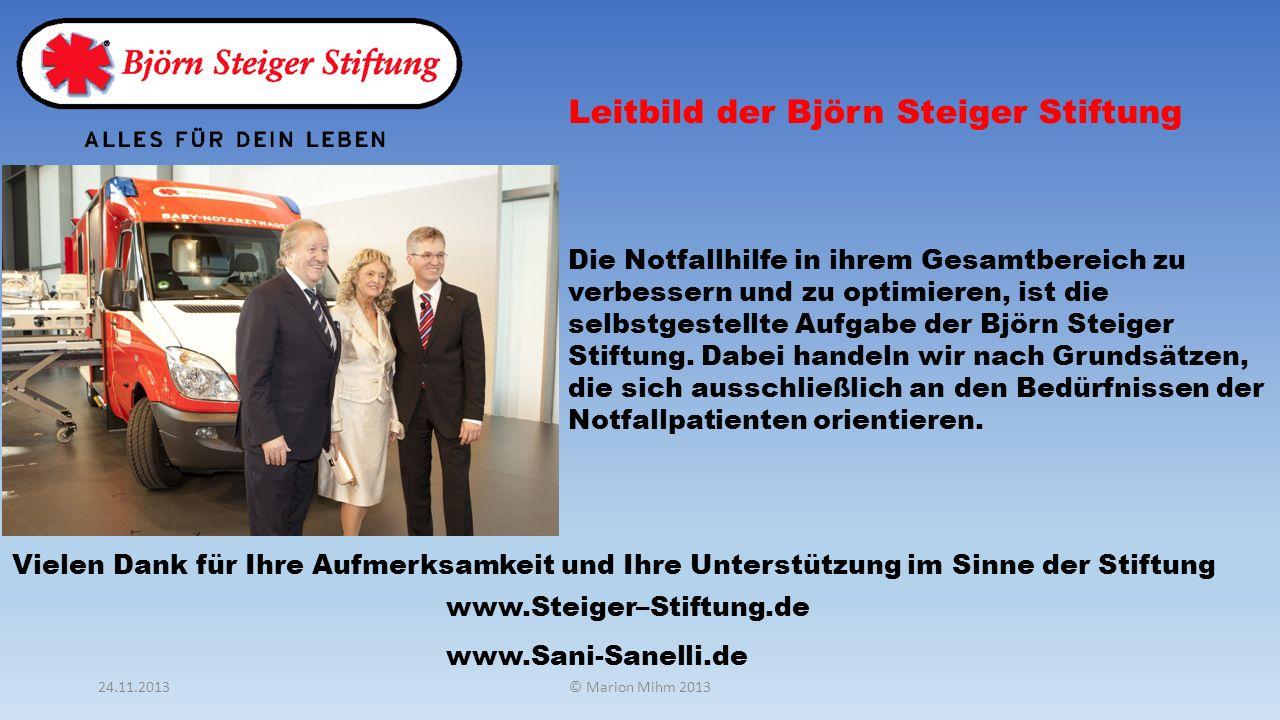 Leitbild der Björn Steiger Stiftung