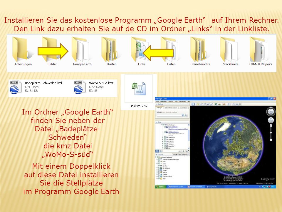 "Im Ordner ""Google Earth"