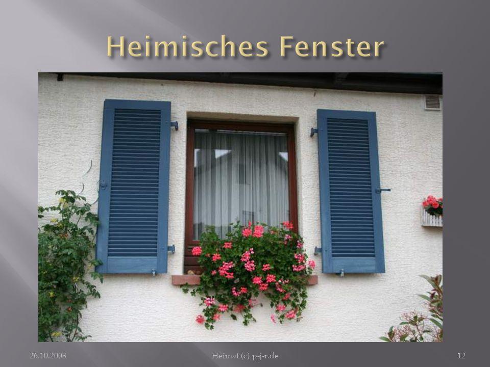 Heimisches FensterHeimat hat mit Zuhause zu tun: Wer ein solches Fenster daheim hat, kommt gern dort an.