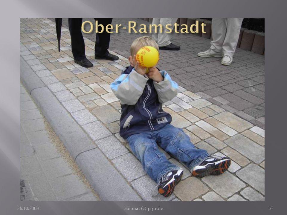 Ober-Ramstadt Wenn die Stadt mit großem Aufwand ein Fest feiert, genügt dem Kind zu seinem Glück ein Luftballon und ein Sitzplatz auf dem Trottoir.