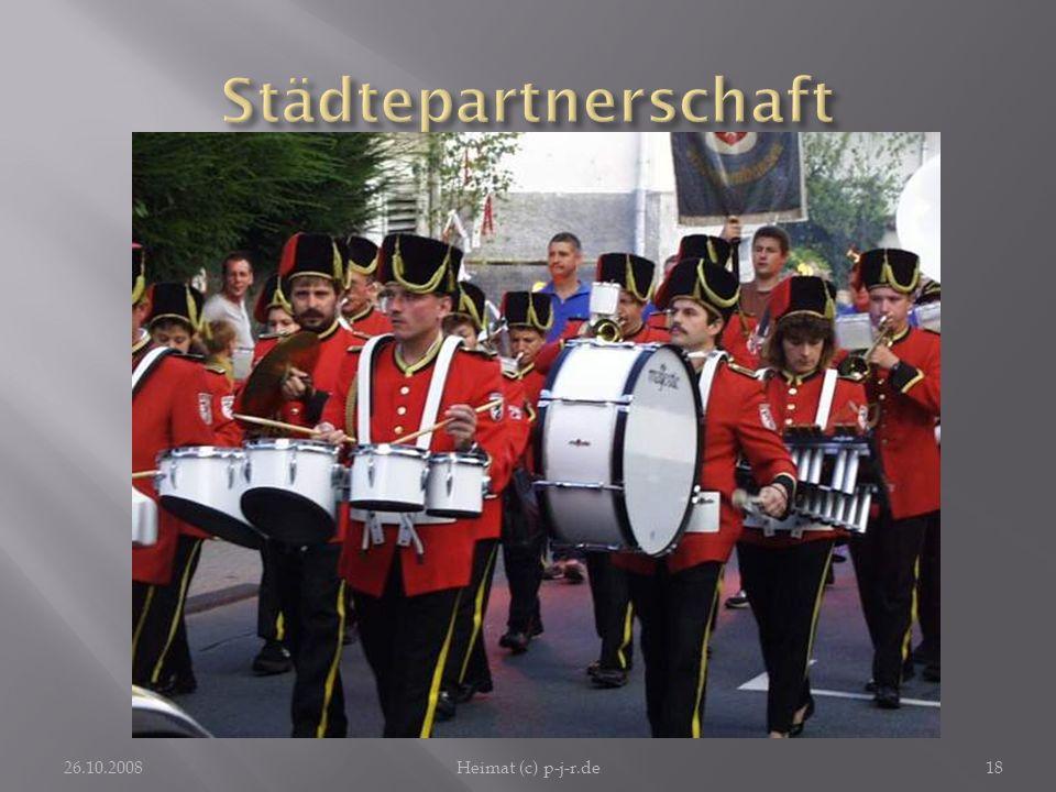 StädtepartnerschaftFarbenfroh uniformiert und mit einprägsamer Musik spielt das Musikcorps in Ober-Ramstadt auf.