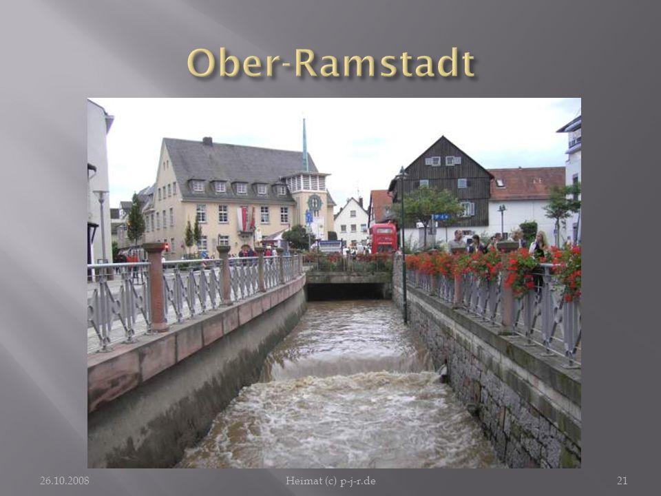 Ober-Ramstadt Mit dem erneuerten Geländer und Blumenschmuck und der erneuerten Straße hat das Aussehen von Ober-Ramstadt sehr gewonnen.