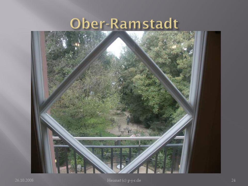 Ober-Ramstadt Eine Zierde der Stadt ist auch der Park der Petri-Villa, hier aus einem ihrer Fenster heraus fotografiert.