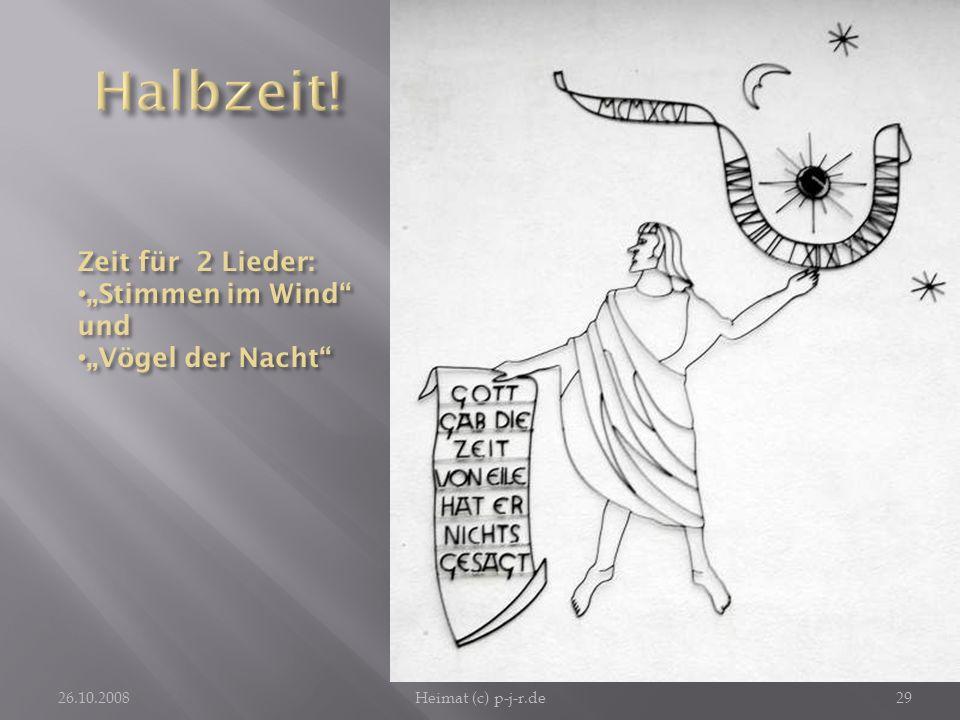 """Halbzeit! Zeit für 2 Lieder: """"Stimmen im Wind und """"Vögel der Nacht"""