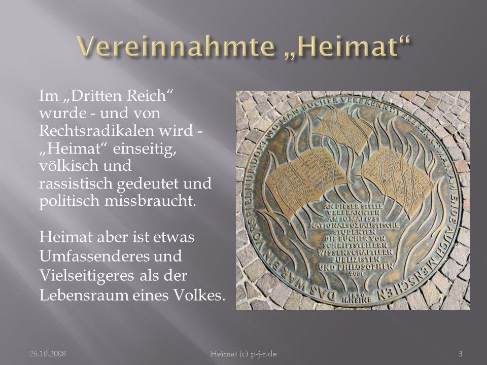 """Vereinnahmte """"Heimat"""